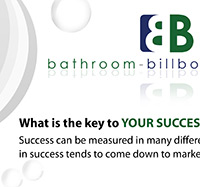 Bathroom Billboard Poster Creation - a charleston graphic design project