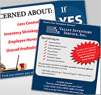 Valley Inventory Postcard Development and graphic design