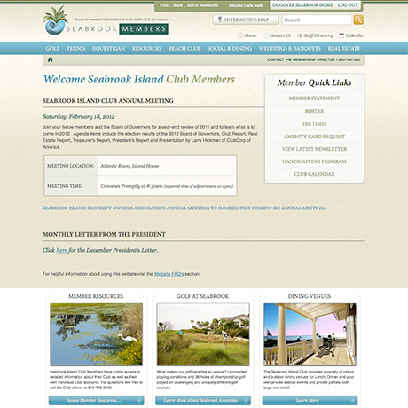 Discover Seabrook Island South Carolina Website Design