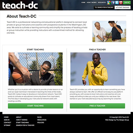 Teach-DC Web design in Charleston SC by The Design Group