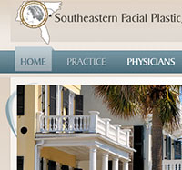 Faces by Costa Plastic and Cosmetic Surgery Web design in downtown Charleston SC