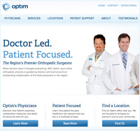 Optim Health - Charleston Web Design and Development