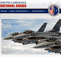 South Carolina National Guard Web Development and web design in Charleston