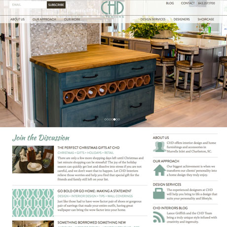 The Bootjack Web design in Charleston SC by The Design Group