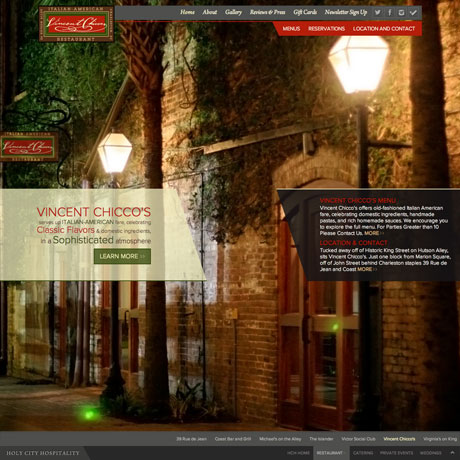 Holy City Hospitality South Carolina Website Design