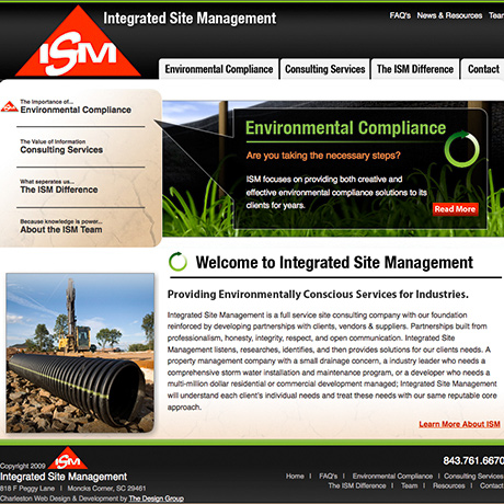 ISM Web Design Project by The Design Group in Charleston