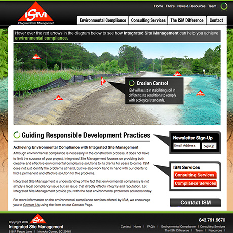 ISM Website Design and Development by The Design Group