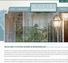 Web Re-design for McGuire Custom Homes