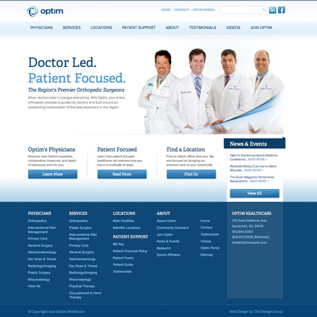 Discover optim Web design in Charleston SC by The Design Group