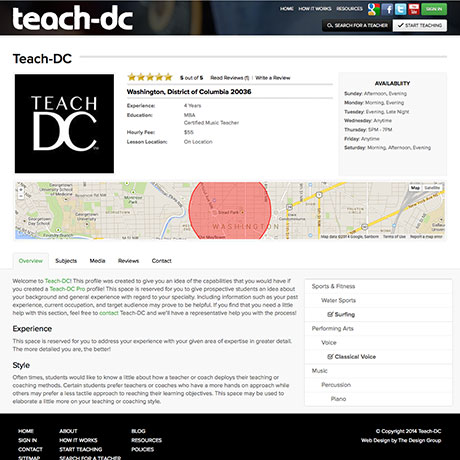 TDG's redesign of Discover teachdc